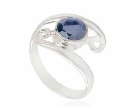 Prstan VIALA - modri safir, turmalin, ametist