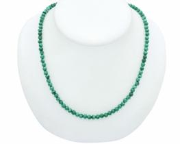 Ogrlica in zapestnica Malahit 4 mm