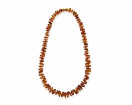 Otroška ogrlica jantar 6 - 7 mm - 36 cm