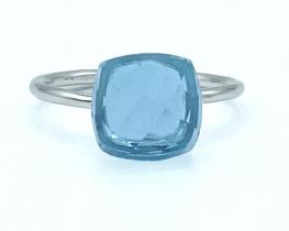 Srebrn prstan SABRINA - mesečev kamen, topaz, oniks, iolit