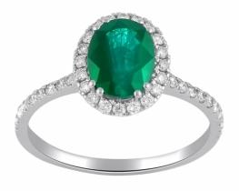 Prstan s smaragdom in diamanti EVITA