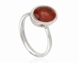 Srebrn prstan ROZA TURMALIN