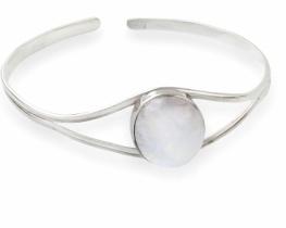 Srebrna zapestnica MAVRICA - mesečev kamen