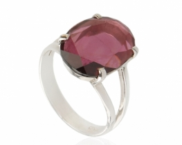 Srebrn prstan violet TURMALIN 12 x 17 mm