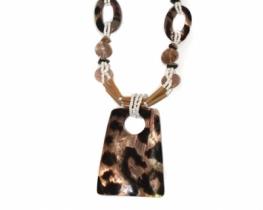 Ogrlica IBIZA - tigrasta školjka