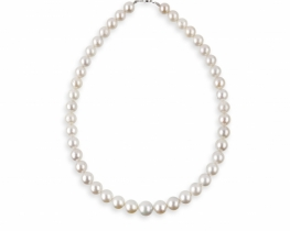 Biserna ogrlica ALLURE tihomorski biseri 9 - 12 mm