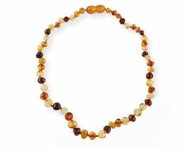 Otroška ogrlica jantar 5 - 6 mm - 35 cm