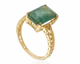 Zlat prstan s smaragdom - unikat