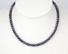 Biserna ogrlica BLACK VELVET - 6,0 mm