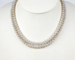Dvoredna biserna ogrlica EVITA P. 6 mm