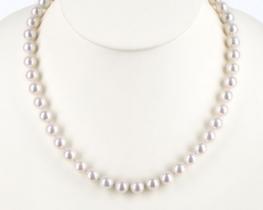 Biserna ogrlica MILLA iz morskih biserov 9 mm - AA