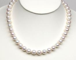 Biserna ogrlica MIRAMAR 11 mm AA srebrna zaponka