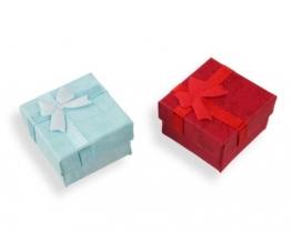 Darilna embalaža za prstane 40 x 40 mm - modra in rdeča
