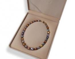 Darilna embalaža za ogrlice PEARL bež