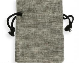Darilni mošnjiček - rafija siv