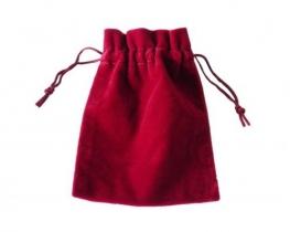 Darilni mošnjiček - rdeč žamet