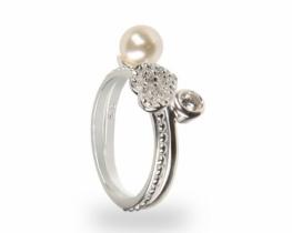 DVOJNI srebrni prstan MOJE SRCE