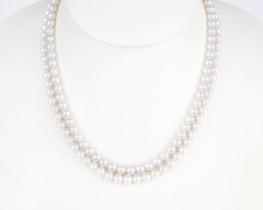 Dvoredna biserna ogrlica EVITA P. - 7 mm