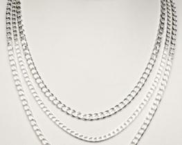 Srebrna verižica PANCER 08 - 50 in 60 cm