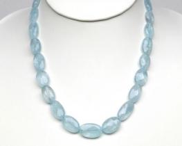 Ogrlica AKVAMARIN 10 x 20 mm - srebrna zaponka
