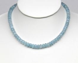 Ogrlica AKVAMARIN 7 mm