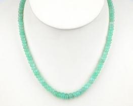 Ogrlica ALISA iz hrizoprasa 5 - 8 mm