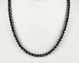 Ogrlica črni TURMALIN 6 mm - 42 in 50 cm