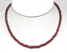 Ogrlica GRANAT z zlato zaponko