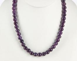 Ogrlica iz ametista 10 mm