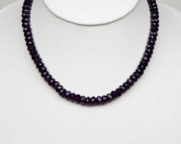 Ogrlica iz ametista F 8 mm