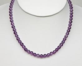 Ogrlica iz ametista 6 mm - AA