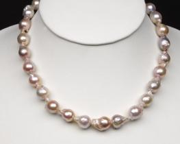 Ogrlica iz baročnih biserov 12 mm