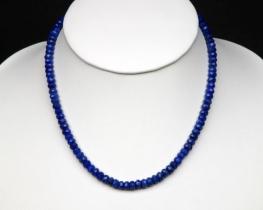 Ogrlica iz brušenega lapisa 6 mm - 42 in 50 cm