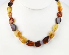 Ogrlica iz jantarja INES - 50 in 62 cm