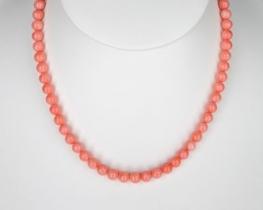 Ogrlica iz roza koral 6 mm