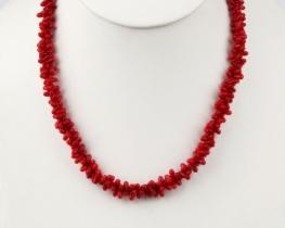Ogrlica iz koral KAJA - rdeča in oranžna
