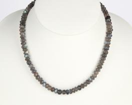 Ogrlica iz LABRADORITA - 7 mm
