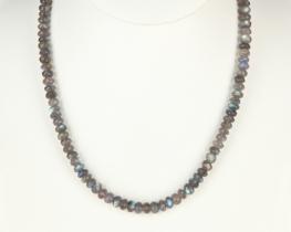 Ogrlica iz LABRADORITA - 7 mm - 50 cm
