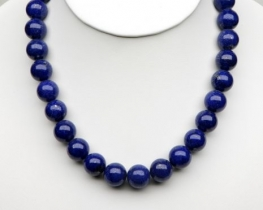 Ogrlica lapis lazuli 11 mm AB