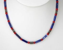 Ogrlica iz lapisa in korale