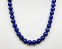 Ogrlica Lapis lazuli AA 10 mm