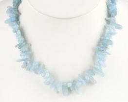 Ogrlica LIVIA - akvamarin