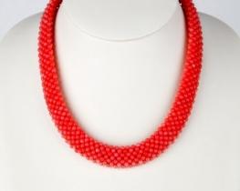 Ogrlica MAKRAME iz roza koral