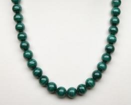 Ogrlica in zapestnica MALAHIT 12 mm A