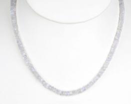 Ogrlica MESEČINA iz mavričnega kamna
