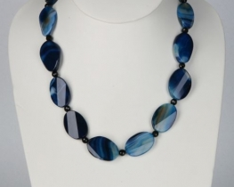 Ogrlica modri ahat 3020 - 60 cm