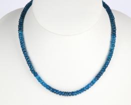 Ogrlica MODRI APATIT - 6 mm