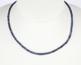 Ogrlica modri Safir 4 mm