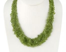 Ogrlica OLIVIA iz peridota - 50 cm