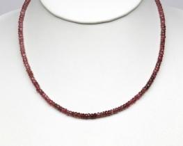 Ogrlica ROZA TURMALIN - zlato